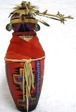 "8.5 ""Prehistoric"" Kachina Doll Gourd Figure Art by Robert Rivera"
