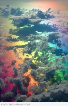 Rainbow taken from up above - beautiful