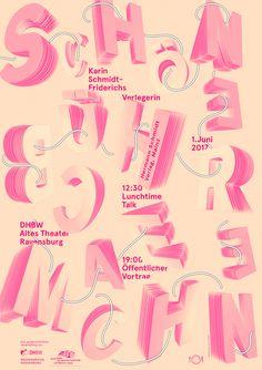 LTT – Lunchtime Talk :: Schöne - Bücher - Machen (Making Beautiful Books) with Karin Schmidt-Friedrichs (Verlag Hermann Schmidt, Mainz). Poster by Jana Lenhard, 2017