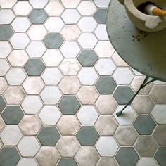 Possible tile for floors. This can be industrial and feminine all at once.