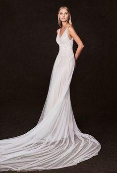 Brides: Victoria Kyriakides Wedding Dresses - Fall 2017 - Bridal Fashion Week - Available at Saks 5th Ave and Kleinfeld #weddingdress