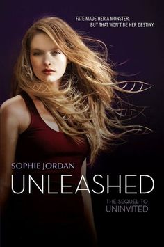 Cover Reveal: Unleashed (Uninvited #2) by Sophie Jordan  -On sale February 24th 2015 by HarperTeen -Davy's world fell apart after she tested positive for Homicidal Tendency Syndrome. She was expelled from her school, dumped by her boyfriend, abandoned by friends, and shipped off to a camp that turns HTS carriers into soldiers. Davy may have escaped, but the damage has already been done. The unthinkable has happened.