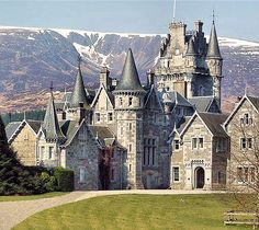 Ardverikie Castle, Kinlochlaggan, Newtonmore , PH20 1BX, Scotland.... http://www.castlesandmanorhouses.com/photos.htm .... Ardverikie House, built in the Scottish baronial style in 1870, is a private house in the Scottish highlands. It sits on a promontory overlooking King Fergus's Island with its ancient ruins. The house played host to Queen Victoria and Prince Albert for a month before she bought Balmoral. It also features in BBC's series Monarch of the Glenn.
