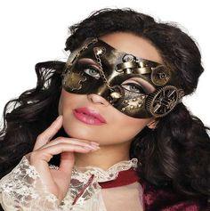 Comprar Máscara Lady Steampunk Bronce. Completa tu disfraz Steampunk con esta máscara super realista y dale un toque de distinción a tus disfraces Steampunk. Este complemento y muchos más puedes verlos en disfracestuyyo.com