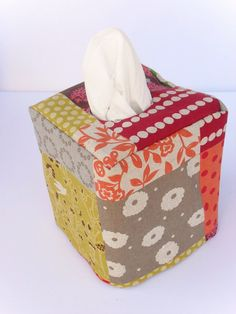 Patchwork tissue box cover.....