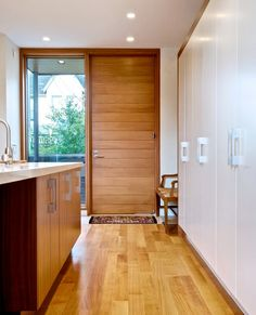 modern wood front doors - Google Search