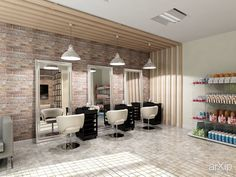 Парикмахерская интерьер фото 10 Home Hair Salons, Hair Salon Interior, Salon Interior Design, Home Salon, Beauty Salon Decor, Beauty Salon Design, Schönheitssalon Design, Barber Shop Decor, Barbershop Design