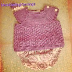 Hand Knitted Newborn Baby Girl Sweater Shirt Tank Top with Side Snaps and Cloth Fabric Diaper Cover on Etsy, $45.00