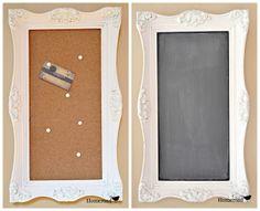 vintage framed chalk board cork board wwwhomeroadnet