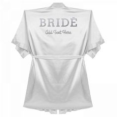 You're getting married! And what better way to relax after your big day with this custom satin robe. Add your wedding date, year, or any custom message to this design and bask in your marital bliss. Ways To Relax, To Tie The Knot, Walking Down The Aisle, Wedding Day, Wedding Things, Are You The One, Big Day, Getting Married, How To Memorize Things