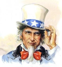 Uncle Sam tips his hat