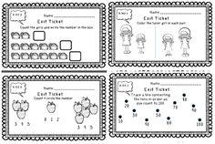 Kindergarten Math Exit Tickets Ticket Free Exit ticket for