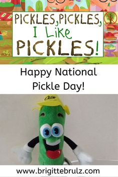 November is National Pickle Day! How will you celebrate? Pickles, Pickles, I Like Pickles! Pickles, Childrens Books, November, Day, Children's Books, November Born, Children Books, Kid Books, Books For Kids