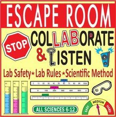 """Your Students will LOVE this activity. There are questions, problems, and puzzle solutions that REQUIRE CONTENT KNOWLEDGE in addition to unique & fun """"escape room thinking."""" This will work great during the first week of school as it covers: lab Lab Safety Activities, Science Lab Safety, Ag Science, 7th Grade Science, Science Resources, Science Lessons, Teaching Science, Science Education, Physical Science"""