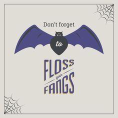 Make sure you're #flossing everyday! #halloween #LehighValleySmileDesigns #LVSD #DrPetrillo