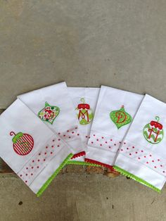 Items similar to Monogramed Christmas Linen Hand Towels on Etsy Christmas Applique, Christmas Sewing, Christmas Embroidery, Christmas Gifts, Machine Embroidery Applique, Hand Embroidery, Grey Hand Towels, Christmas Hand Towels, Monogram Towels