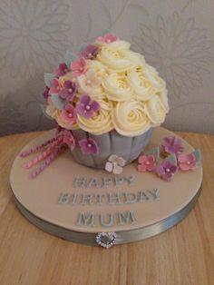 Vintage 'mini' Giant Cupcake