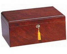 Quality Importers Desktop Cigar Humidor - Milano Rosewood