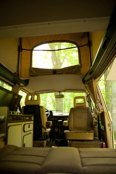 VW Westy from the inside.