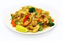 Char Kway Teow - Our take on this traditional  Malaysian Noodle dish. We added several more ingredients to add flavour, interest and colour