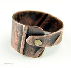 Fold Formed Copper Ring