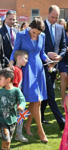 Everyone was keen to get close to the royal visitor this afternoon...