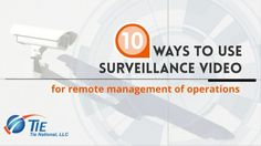 10 ways Security Cameras can Help Operations