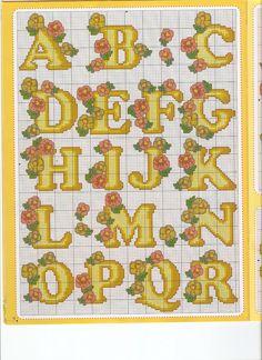 Schema punto croce Abc-beige-fiori-1