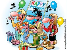 Geburtstagsbild: Happy Birthday Comic