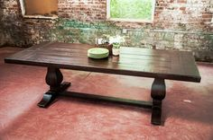 The Weston Rustic Trestle Farm Dining Table by RusticTrades, $2850.00