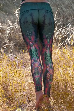 Teeki Eagle Feather Green Hot Pant NEW!