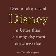 .a rainy day at Disney