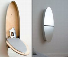 """Designed by Nils Wodzak and manufactured by Konzept Design from Germany, this """"Mirror ironing board closet"""" product comes with at least the three useful features mentioned in its name. At a first glance it is a mirror, nicely fit in the room. As the mirror is """"open"""", an ironing board appears and a lamp is """"triggered"""" as well, creating a good environment for ironing with style. This type of multifunctional item could be a good investment in a small apartment, saving plenty of space. The…"""