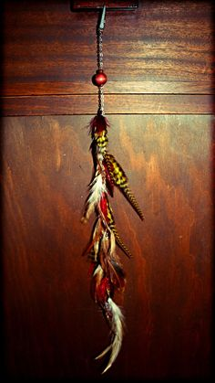 Handmade Long Chain Feather Hair Extension Clip or by Cloud9Jewels, $27.00
