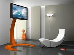 futuristic living room Living Room Wall Units, Living Room Modern, Living Room Interior, Futuristisches Design, Stand Design, House Design, Design Ideas, Interior Design, Lcd Tv Stand