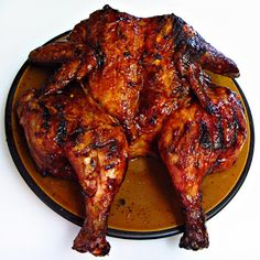 Delicious!  A classic pound cake is topped with a pecan and brown sugar mixture before baking, then topped with caramel sauce. Grill Master, Stuffed Whole Chicken, Tandoori Chicken, Chicken Wings, Barbecue, Pork, Grilling, Meat, Cooking