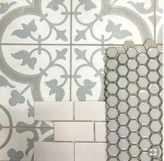 17 Unique Floor Tiles Reproduction : Floor Tiles Reproduction Meilleur De Cheverny Blanc Encaustic Cement Wall and Floor Tile 8 X 8 In. Impressionnant floor tiles reproduction - {from the Upstairs Bathrooms, Basement Bathroom, Small Bathroom, Master Bathroom, Bathroom Ideas, Bathroom Renovations, Bathroom Layout, Master Baths, Neutral Bathroom