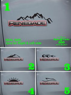 2pcs Vinyl Door Decal Sticker Side Graphic for JEEP RENEGADE And ANY CARS Set-1 #Oracal
