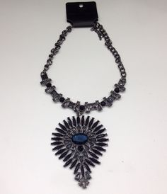 #statement #necklace #blue #silver #accessories #christmas #gift #style #jewel