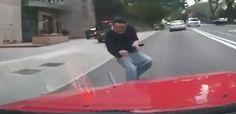 Shocking moment man headbutts taxi in Hong Kong
