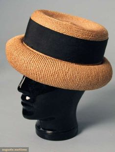 Augusta Auctions, March 2010 NYC, Lot 308: Chanel Summer Straw Hat, 1960s