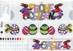 Cross Stitch *<3* Easter Pâques Pasqua