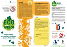 Eco Non Spreco  logo realizzato nel 2009 per la società Promopoint srl da Sonia Squilloni.  Nell'immagine il fronte di depliant pieghevole