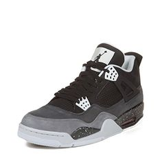 fef377c6d6c2 Nike Mens Air Jordan 4 Retro Fear Pack BlackCool Grey Suede Basketball Shoes  Size 11 -- Click image for more details. (This is an affiliate link)