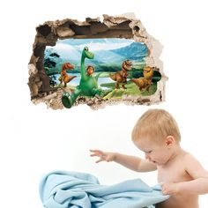 Find More Wall Stickers Information about Hot! 1pc 3D Dinosaur Wall Sticker Children Bedroom Livingroom Decorative Collages Removable Home Decorative Sticker 2012WS,High Quality stickers passat,China sticker Suppliers, Cheap sticker crystal from NAAN GUO Store on Aliexpress.com