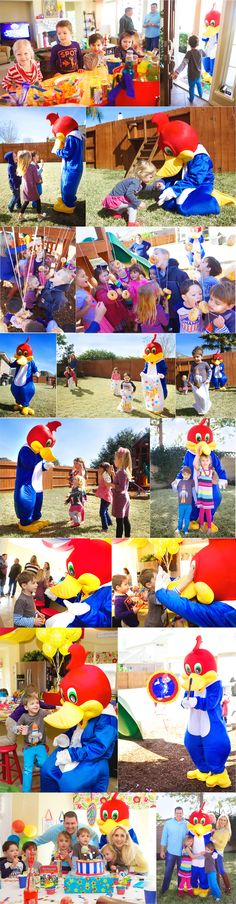 Colin's Woody Woodpecker Birthday Party: The Execution