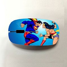 Generic For Women Kawaii Design With Superman Comics Usb Wireless Mouse @ niftywarehouse.com #NiftyWarehouse #Superman #DC #Comics #ComicBooks