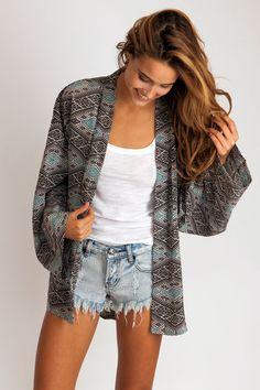 Shibuya Silk Kimono in thai Trendy Outfits, Cool Outfits, Dress Attire, Acacia Swimwear, Summer Lookbook, Silk Kimono, Silk Dress, Piece Of Clothing, Fall Winter Outfits