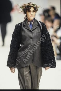 Balenciaga Dress, Romeo Gigli, Yasmin Le Bon, Catwalk, Goth, Fall Winter, Spring Summer, Dresses, Style