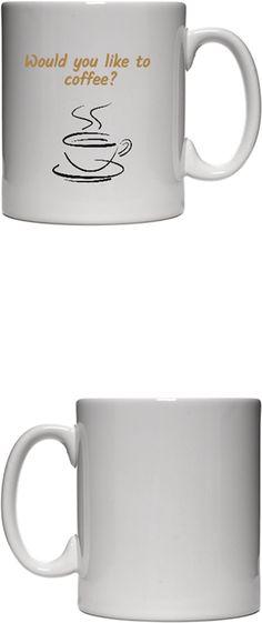 Bilginç Tasarım - Would you Like to Coffee Kendin Tasarla - Beyaz Kupa